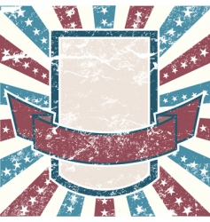 American old grunge vector image