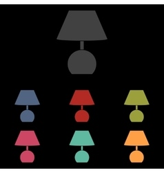 Lamp icon on black vector image vector image