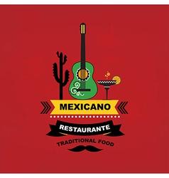 Menu mexican template design vector image vector image