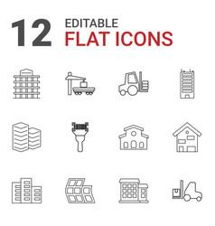12 distribution icons vector