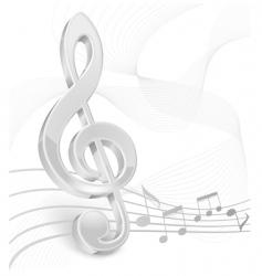 3d treble clef vector image