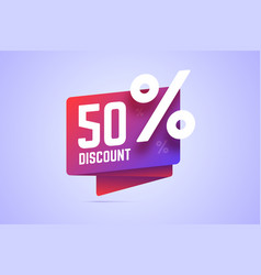 50 percents discount gradient vector image