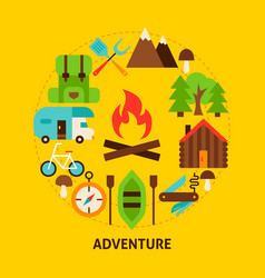adventure summer postcard vector image