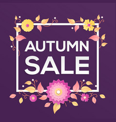 autumn sale - modern colorful vector image