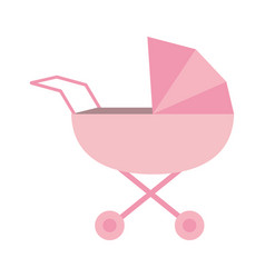 baby stroller icon image vector image