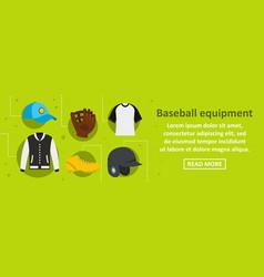 baseball equipment banner horizontal concept vector image