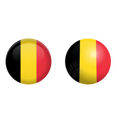 belgium flag under 3d dome button and on glossy vector image