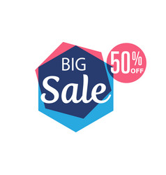 big sale isolated sticker vector image