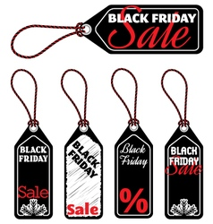 black friday sale tags vector image