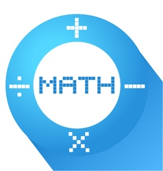 blue math symbol vector image