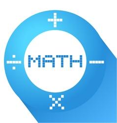 Blue math symbol vector