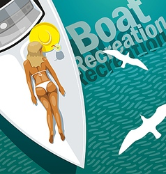 Boat Recreation vector image