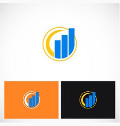 business finance progress company logo vector image