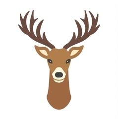 Cartoon deer head animal vector