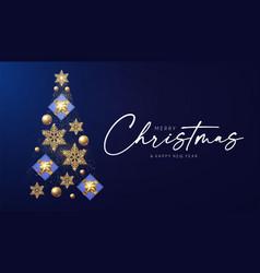 Christmas tree merry design template vector