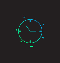 clock time date icon vector image