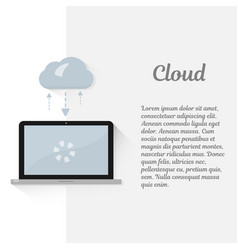 cloud computing concept modern vector image