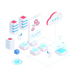 cloud service isometric vector image