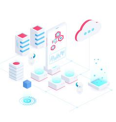 Cloud service isometric vector