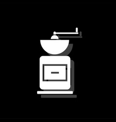 coffee grinder icon flat vector image