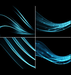 collection backgrounds with abstract light wave vector image