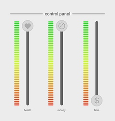 Control panel design concept work and life no time vector