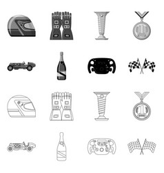 design of car and rally logo set of car vector image