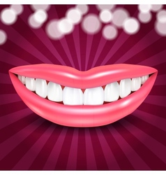 Disco Lips vector image