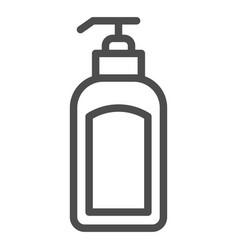 Dispenser line icon lotion bottle vector