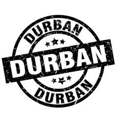 durban black round grunge stamp vector image