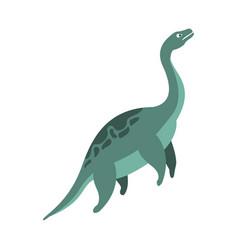Elasmosaurus aquatic dinosaur jurassic period vector