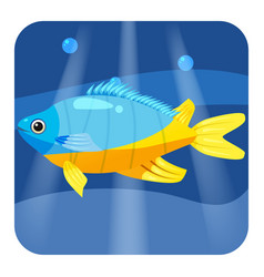 exotic tropical fish isolated on seae background vector image