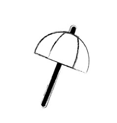 figure umbrella open style to weather protection vector image