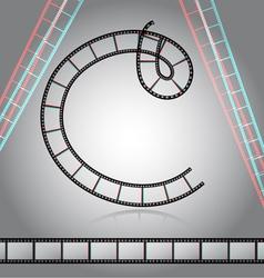 Film tape alphabet letter vector