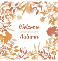 Flat design style Welcome Autumn card vector image