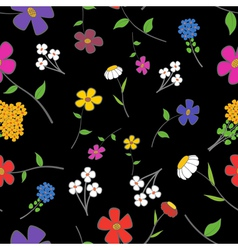 Floral on a black Seamless vector