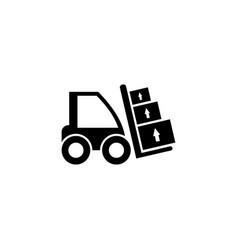 forklift loader flat icon vector image
