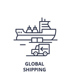 global shipping line icon concept global shipping vector image