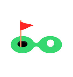 golf course icon with white ball vector image