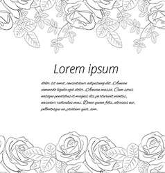 Greeting card on a white background vector
