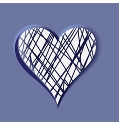 Hand-drawn heart element for your design vector image