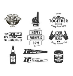 happy father s day badges and design elements vector image