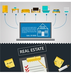 infographic for sale of real estate vector image
