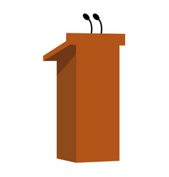 isolated wooden lectern vector image
