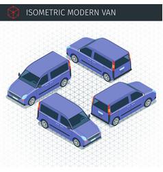 isometric modern van vector image