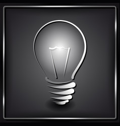 lamp silhouette on black background vector image