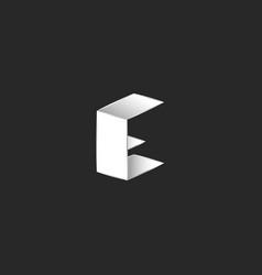 letter c 3d logo creative modern design geometric vector image