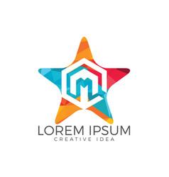 letter m logo design vector image