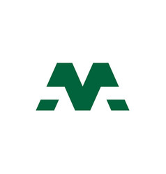 Letter m simple geometric logo vector