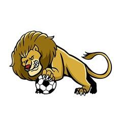 Lion Soccer Mascot vector